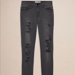 Frame denim grey ripped jeans size 26